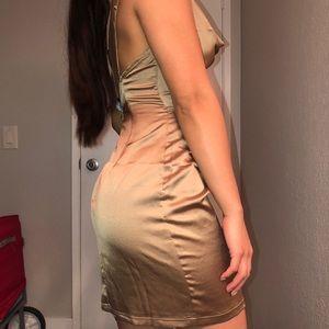 PrettyLittleThing Dresses - Champagne Satin Dress